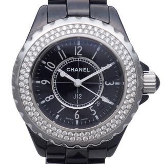 Chanel Diamond Black J12 Watch