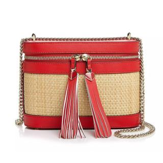 Kate Spade Red Wicker Shoulder Bag