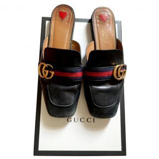 Gucci Black Peyton Slides
