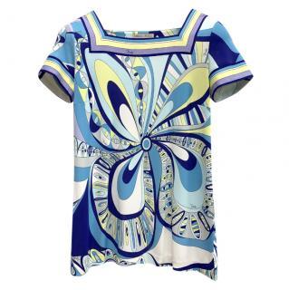 Emilio Pucci Blue Printed T-Shirt