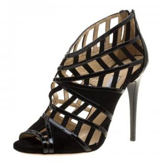 Jimmy Choo Leather & Suede Vector Cut Out Cage Sandals