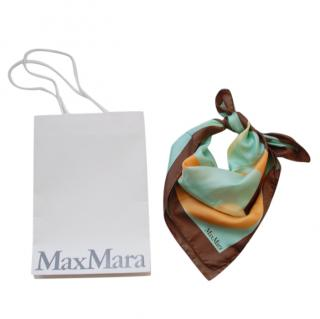 Max Mara Colourblock Silk Scarf