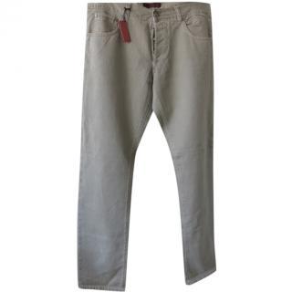 Isaia Napoli Khaki Jeans