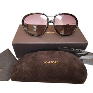 Tom Ford Brown Oversize Sunglasses