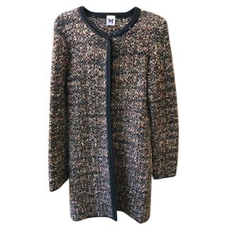 M Missoni Tweed Knit Cardigan Jacket