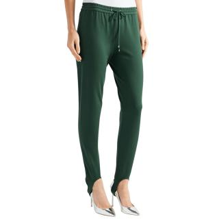 Theory Green Stretch Ponte Stirrup Trousers