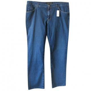 Zilli Blue Jeans With Embroidered Patch Pocket