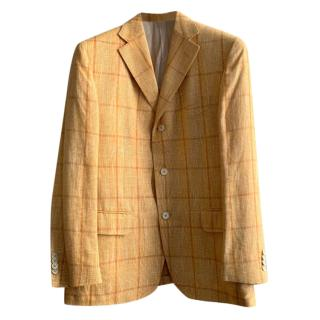 Ferragamo Linen & Cashmere Single Breasted Jacket