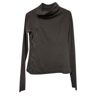 Rick Owens Khaki Asymmetric Jacket