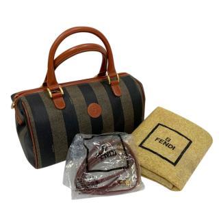 Fendi Striped Vintage Tote Bag