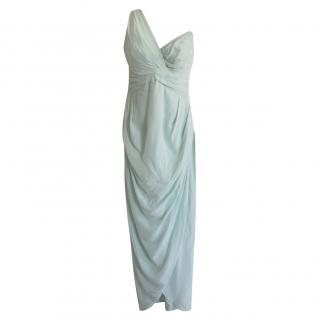 Zimmermann Mint Green One Shoulder Knot Gown