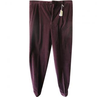 Brioni Purple Cordurouy Trousers