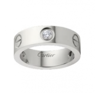Cartier Love Ring in White Gold with 3 Diamonds