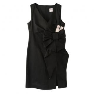 RED Valentino Black Bow Detail Mini Dress