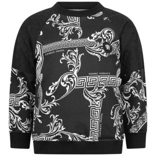 Young Versace Monochrome Baroque Jumper