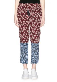 Elizabeth and James Silk Crepe Printed Pants