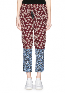 Elizabeth and James Silk Crepe Printed Pants