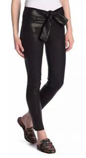Frame Self Tie Skinny Leather Pants.
