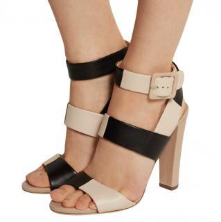 Sergio Rossi Two-Tone Colourblock Sandals