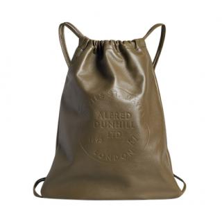 Dunhill Chiltern Leather Drawstring Backpack