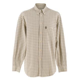 Beretta Sport Beige Check Button Down Shirt