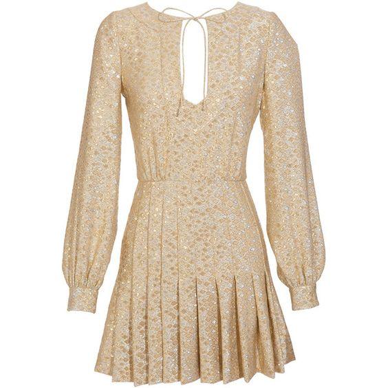 Azzaro silver/gold brocade dress
