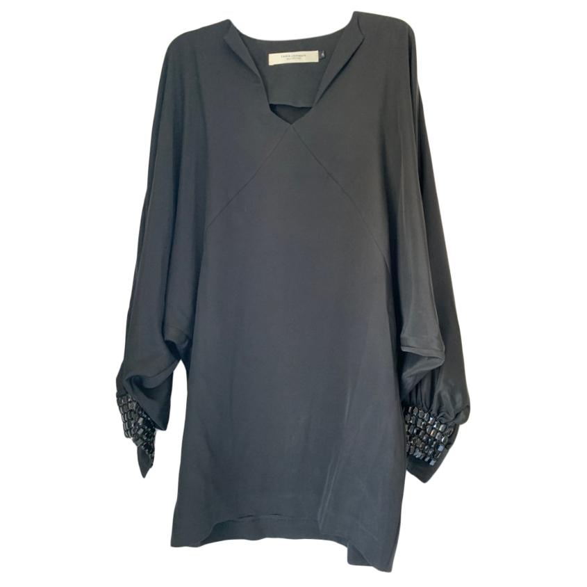Tara Jarmon  Draped Embellished Shift Dress