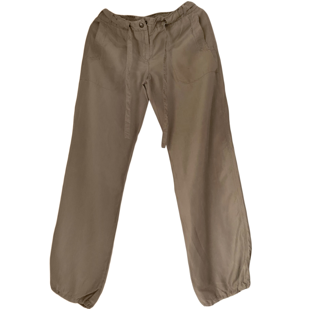 Max Mara Silk Khaki Pants