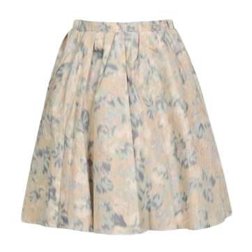 Acne Watercolour Print Blush A-Line Skirt