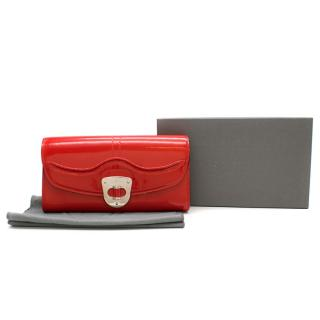 Alexander McQueen Red Patent Leather Pochette