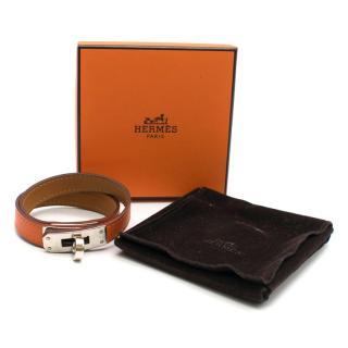 Hermes Orange Double Tour Kelly Bracelet