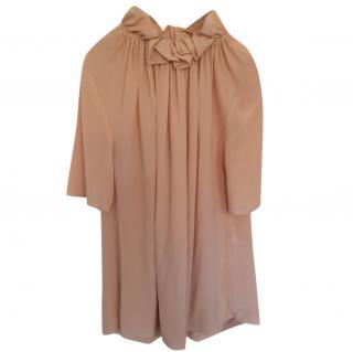 Stella McCartney Blush Silk Ruffled Top