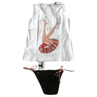 Chantal Thomass White Tank & String Bikini