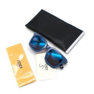 Fendi Square Blue and Orange Sunglasses