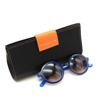 Face a Face Circular Lens Blue and Black Sunglasses