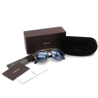 Tom Ford Dalhia Circle Aviator Sunglasses