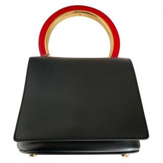 Marni Pannier Black Leather Flap Bag