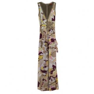 Missoni Silk Printed Beaded Gown