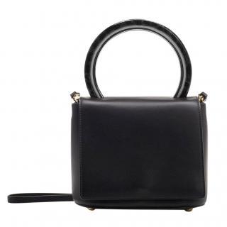 Marni Black Leather Pannier Tote Bag