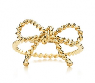 Tiffany & Co. Yellow Gold Bow Rope Ring