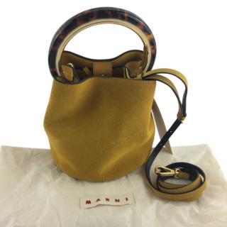 Marni suede Pannier top handle/crossbody bag