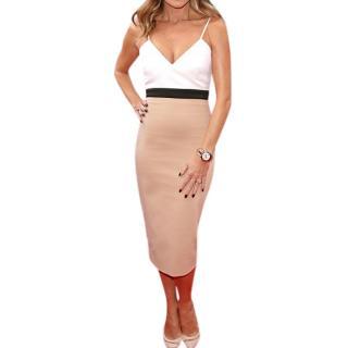 Victoria Beckham Colourblock Midi Dress
