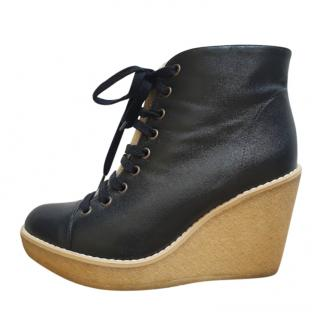 Stella McCartney round-toe wedge ankle boots