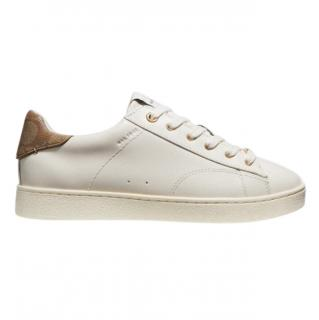 Coach White Leather Low Top Sneakers With Monogram