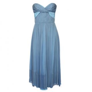 Chloe Bertille Silk Strapless Dress