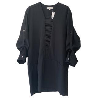 Iro Black Lace-Up Shift Dress