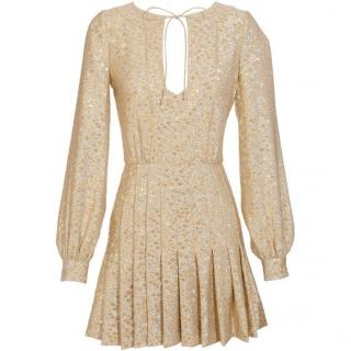 Azzaro silver/gold brocade dress