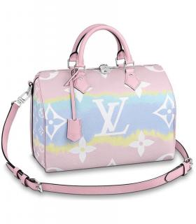 Louis Vuitton limited edition pastel Speedy Bandouliere Escale SS2020