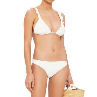 Eberjey White Ruffled Bikini