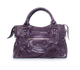 Balenciaga Giant Purple City Tote Bag